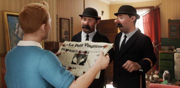 LES AVENTURES DE TINTIN : LE SECRET DE LA LICORNE - 2e Partie : Steven Spielberg au Pays de la Ligne Claire dans Fiche et critique du film Les-Aventures-de-Tintin-Dupond-et-Dupont