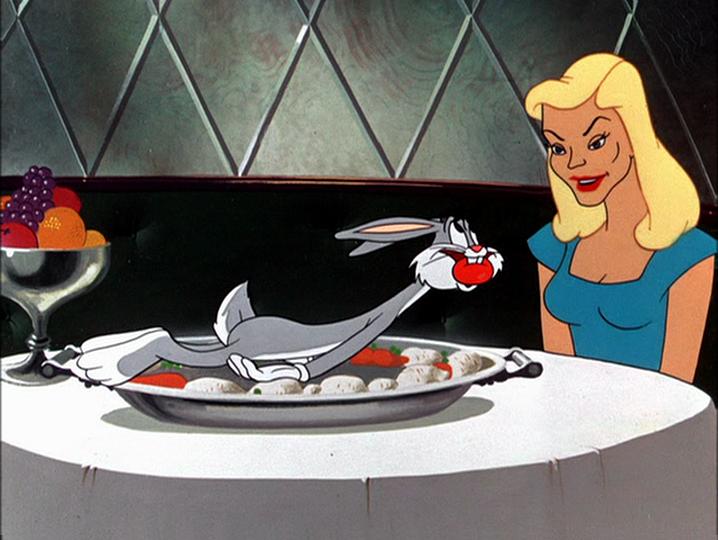 Lauren Bacall - avec Bugs Bunny !