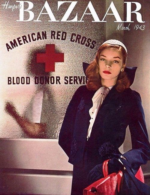 Lauren Bacall - la une de Harper's Bazaar